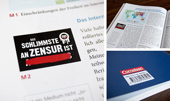 "PoliShirts Schulbuch ""Das Schlimmste an Zensur ist ..."""